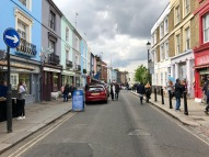 Notting Hill ja Portobello Road.